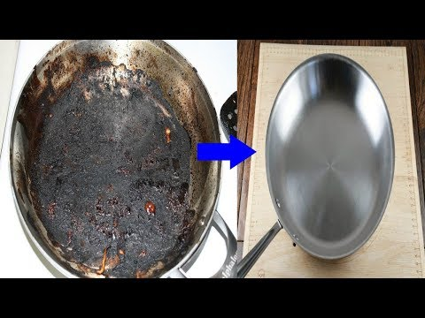 HOW TO CLEAN BURNED POT AT HOME |HOME KITCHEN IDEAS TO SAVE TIME AND MONEY| COINDAME NATURAL