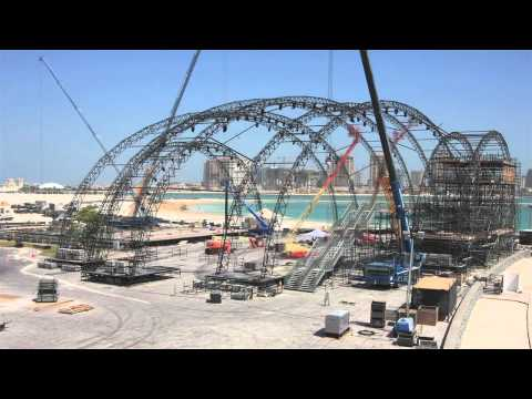 Incredible Time Lapse Footage of Doha Tribeca's Open-Air Theater: Party Builders Bonus Material