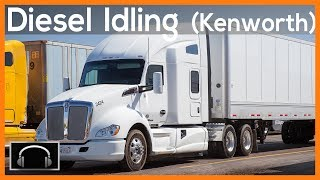►10 hours of diesel truck idling white kenworth semi truck sounds engine sounds asmr