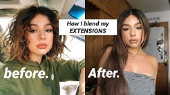 how to blend extensions w/ short hair 💘