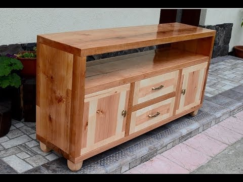 Alder Wood Tv Stand Youtube