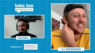 Catching Up with Lions TE T.J. Hockenson | B1G Football | Take Ten with Alex Roux