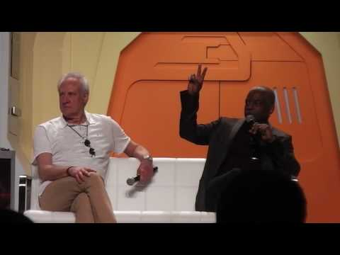 LeVar Burton and Brent Spiner at the 2017 Star Trek Convention