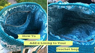How to make a lining for crochet bag