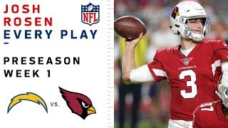 Every Josh Rosen Play vs. Chargers