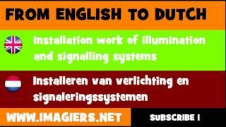 NEDERLANDS = ENGELS = Installeren van verlichting en signaleringssystemen