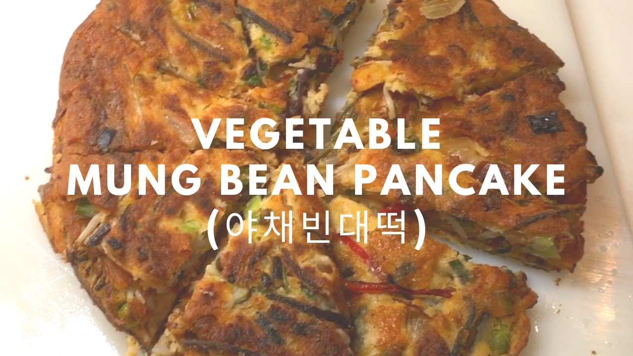 How to make a Veggie Mung Bean Pancake (야채빈대떡)