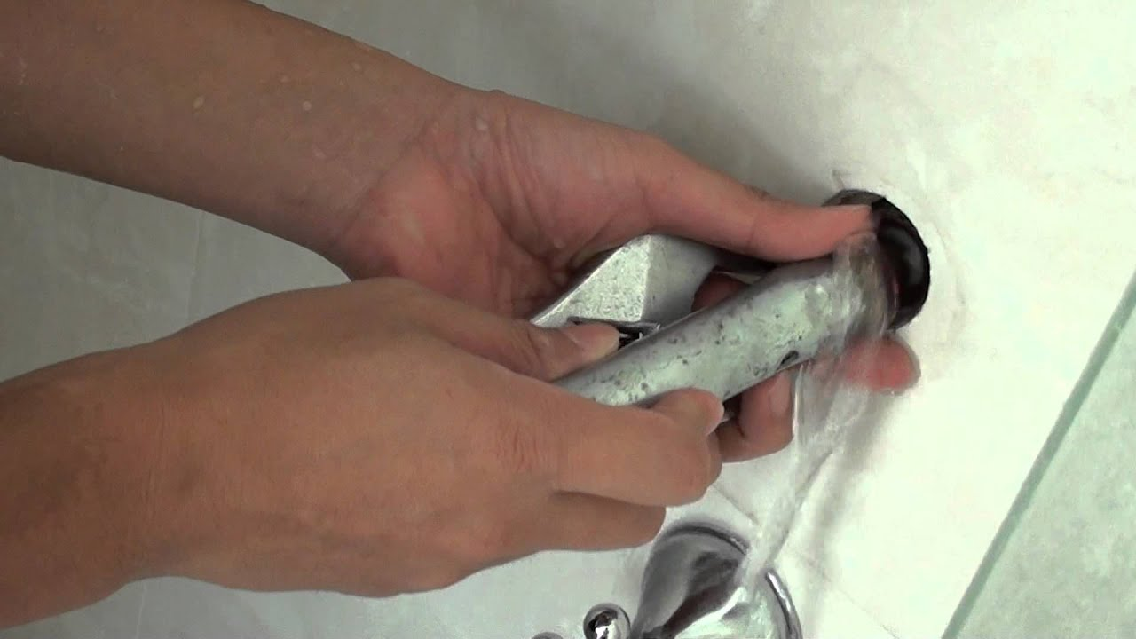 How to Change Bathroom Tap Washer For Leaking Shower  YouTube