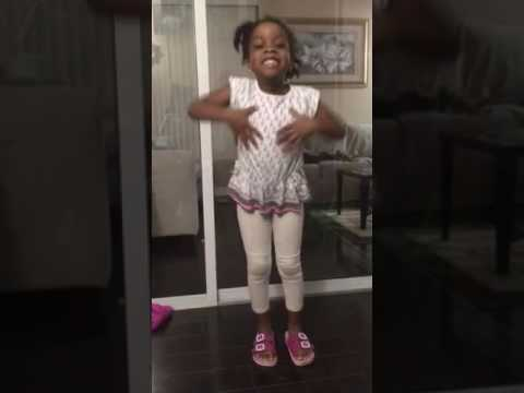 4 year old sister doing Ju Ju on the beat
