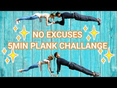 5MIN PLANK CHALLENGE | NO EXCUSES