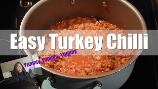 EASY TURKEY CHILI  MY KIDS AND I  COOKING VLOG
