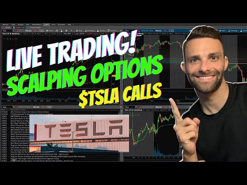 (Live) Day Trading $TSLA Call Options | How to Scalp Trade Options
