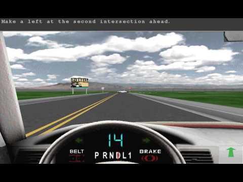 Drivers Education - Lesson 2 - Practice Driving (Игра - симулятор от 1999 года)