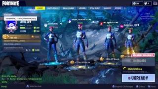 Fortnite squad with tsa gold