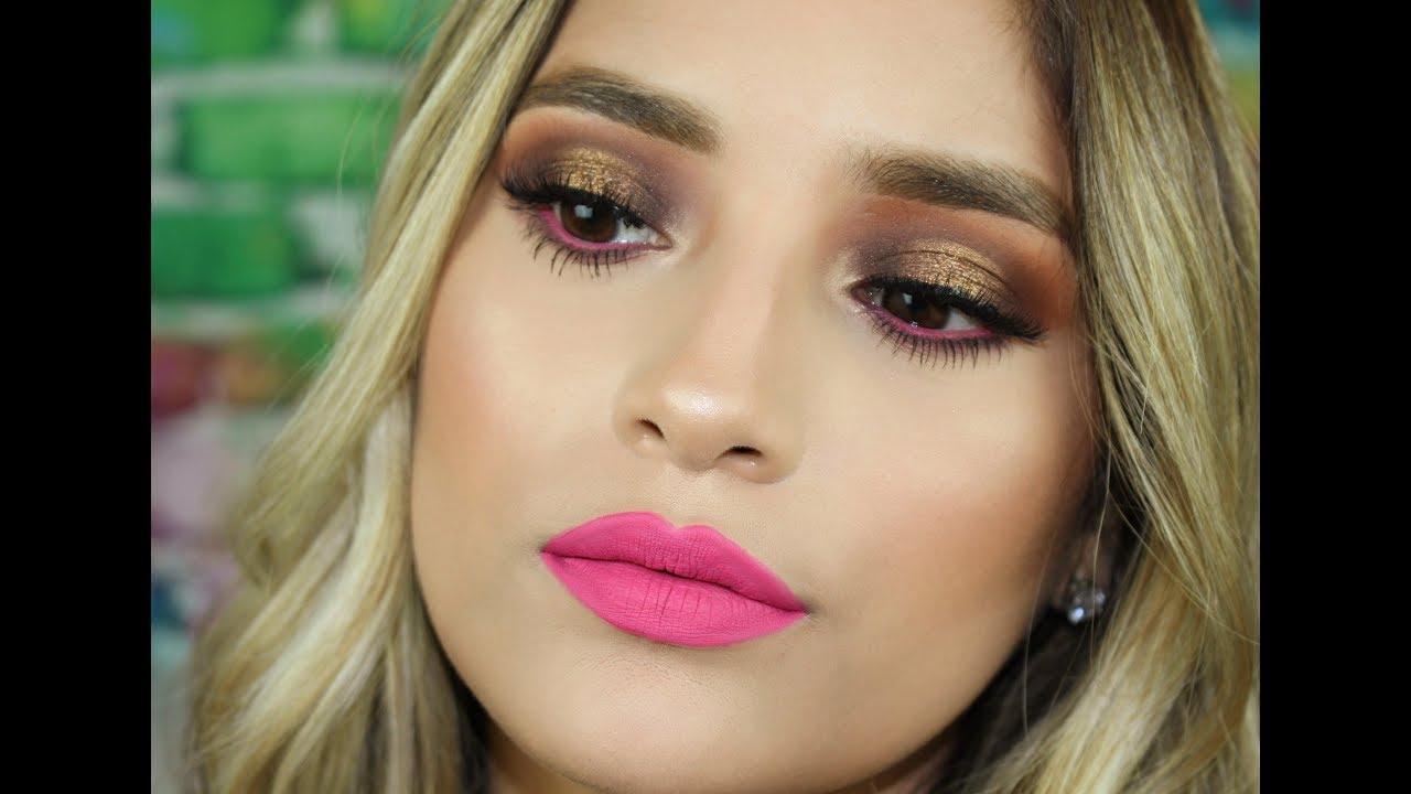 Eye Makeup For Pink Dress