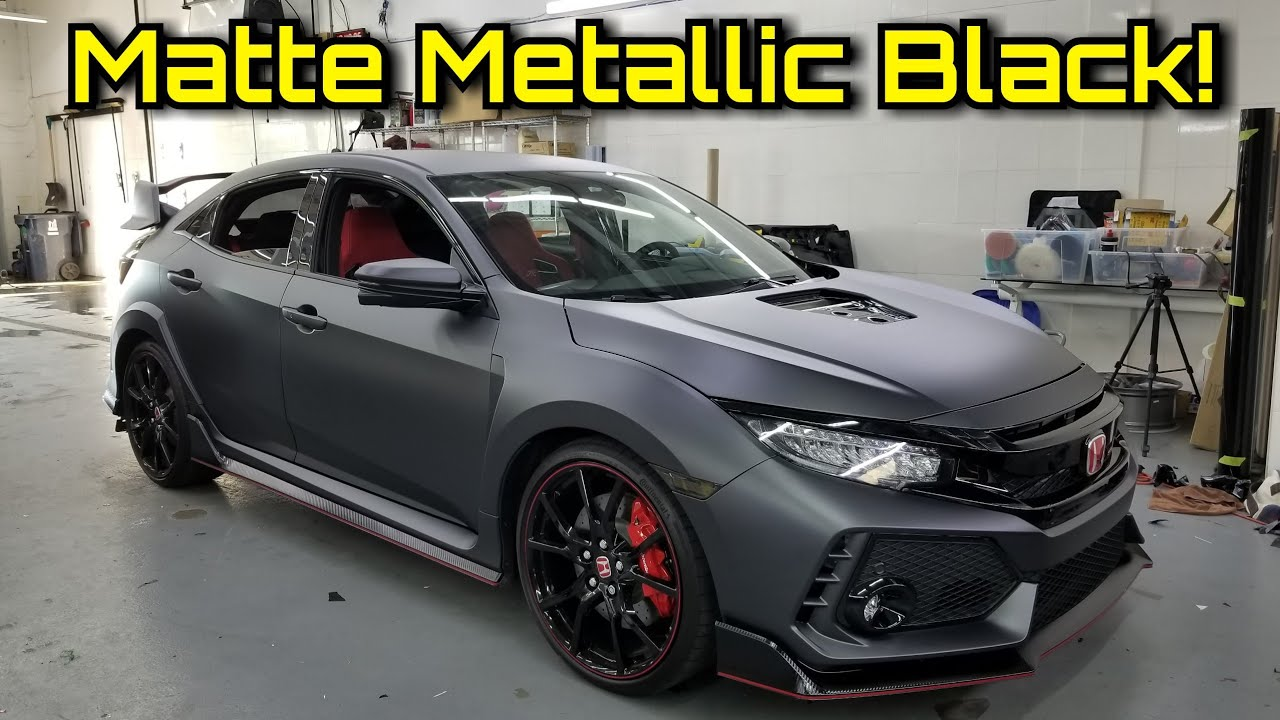 2018 Civic Type R CTR Wrapped In Matte Metallic Black |The ...