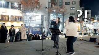 When Real Singer Suddenly Joins Street Performance (HYNN - Bad Love) [ENG SUB]