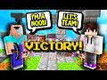 HELPING NOOBS GET THEIR VERY FIRST WIN Minecraft Skywars mp3