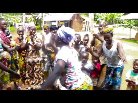 Solar powered mobile phone stations in Sierra Leone