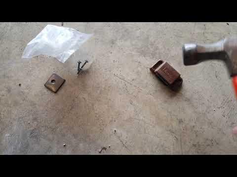 Repair Metal Mailbox Latch Using Cheap Magnets