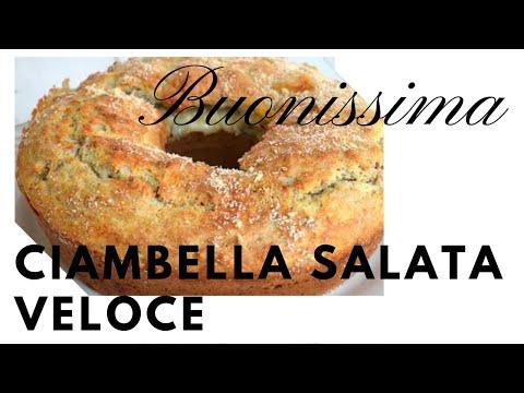 Ciambella Salata Veloce Soffice Senza Bilancia,Ricetta Svuota Frigo