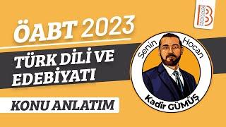 58) Yeni Türk Edebiyatı - Tanzimat Dönemi - I - Kadir Gümüş (2021)