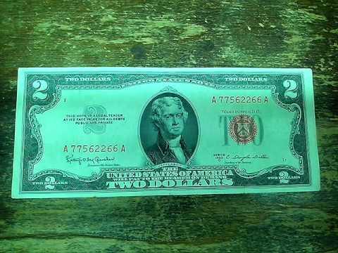 Купюра 2 доллара США, мифы и легенды.