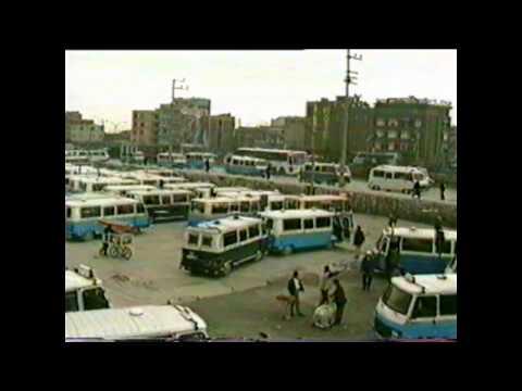 Bursa eski santral garaj Minibüs durakları, Fomara, Yorgancılar çarşısı, bedesten,