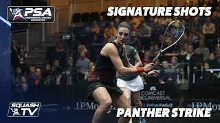 Squash: Signature Shots - Camille Serme - Panther Strike!