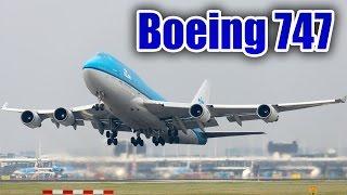 Espectaculares Boeing 747 aterrizando y despegando