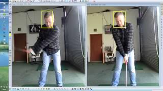 Live Golf Lesson Good Load on Takeaway for Good Shoulder Turn