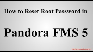 How to Reset Root Password in Pandora FMS 5.1