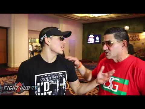 CRAZY ANGEL GARCIA MEETS AND DROPS KNOWLEDGE ON TEOFIMO LOPEZ JR AND FATHER IN LAS VEGAS!
