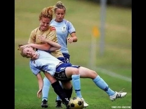 Most Brutal Female Football Player ever?