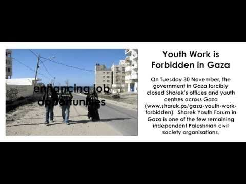 Youth Work is Forbidden in Gaza: Sharek Forcibly Closed