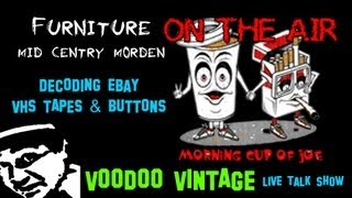 Morning Cup Of Joe E16 Live Picker Show: How To Sell Mid Century Modern Furniture & Buttons
