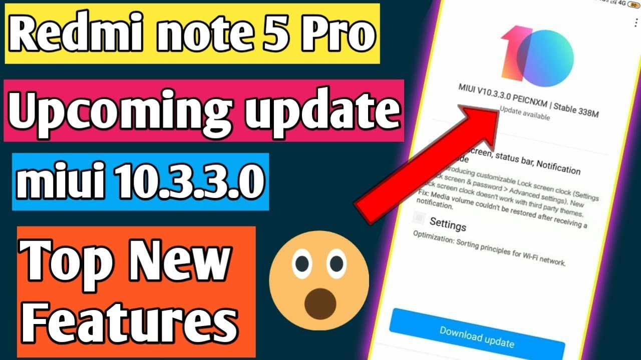 Redmi note 5 pro upcoming update miui10 3 3 0 all features | new stable  update