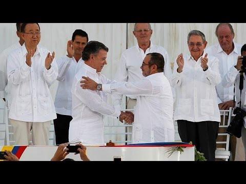 Nie mehr Krieg: Kolumbiens Regierung und Farc-Guerilla schließen Frieden