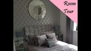 New grey room tour/shopping haul. SPARKLE & GREY!!