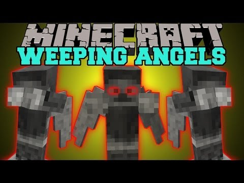 Minecraft: WEEPING ANGELS (DON'T LOOK BEHIND YOU!) Mod Showcase