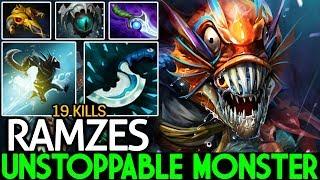 Ramzes [Slark] Unstoppable Blink Dagger Build 19 Kills Cancer Gameplay 7.22 Dota 2