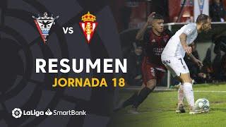 Resumen de CD Mirandés vs Real Sporting (0-0)