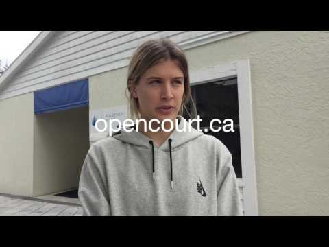 Eugenie Bouchard - Off-season interview