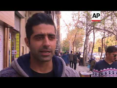 Tehran residents react to protests in Iran