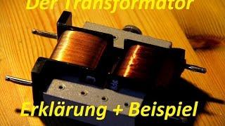 Transformator /Funktion /Beispiele + Erklärung German