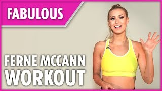 Ferne McCann's home abs workout