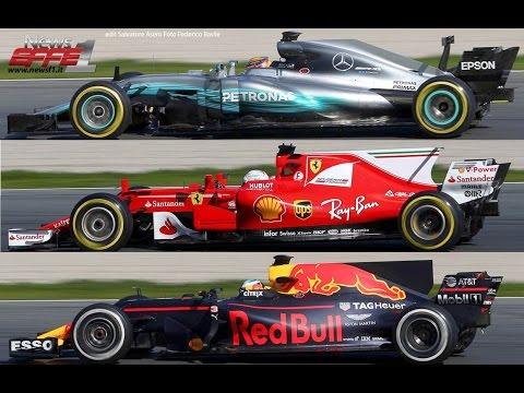 Formula 1 2017 Car Comparison Ferrari Redull Mercedes