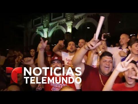 Reciben con honores al equipo de béisbol de Puerto Rico | Noticiero | Noticias Telemundo