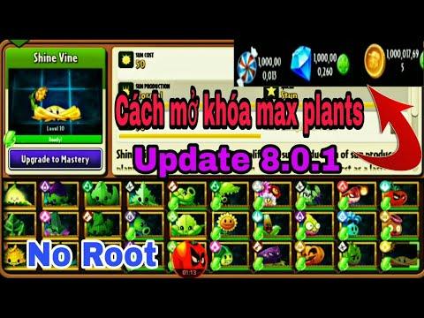 Cách mở khóa tất cả plants 8.0.1 full coin gems pvz 2 #plantsgamer#newupdate801#maxplants801
