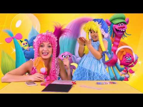 Pelicula de Trolls: Coloreando con los Trolls